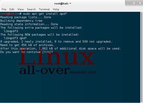 How To Install Qpdf | how to remove pdf password via linux kali linux tech