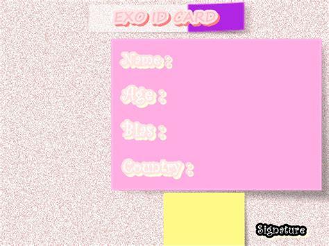 exo id card design exo id card sle 22 by stellaseleria on deviantart