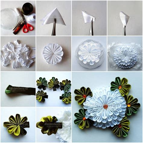 How To Make A Paper Ribbon Flower - ribbon flower diy search diy