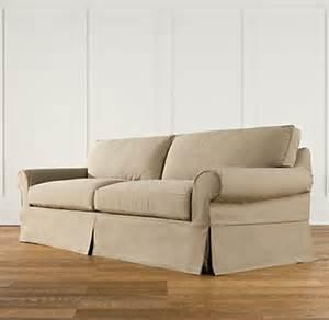 grand scale roll arm slipcovered sleeper sofa