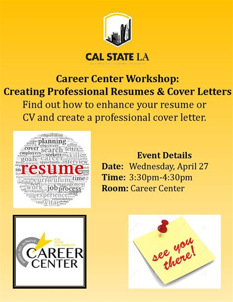 Career Center Resume by Career Center Workshop Creating Professional Resumes