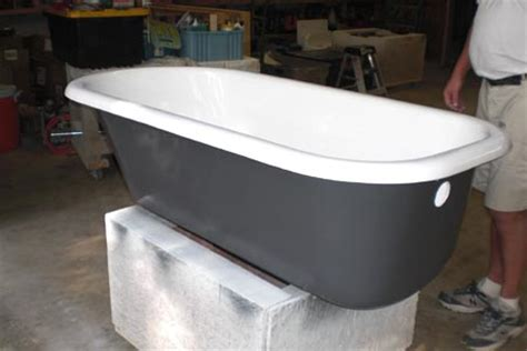 refinishing cast iron bathtubs custom tubs inc cast iron tub refinish project photo gallery