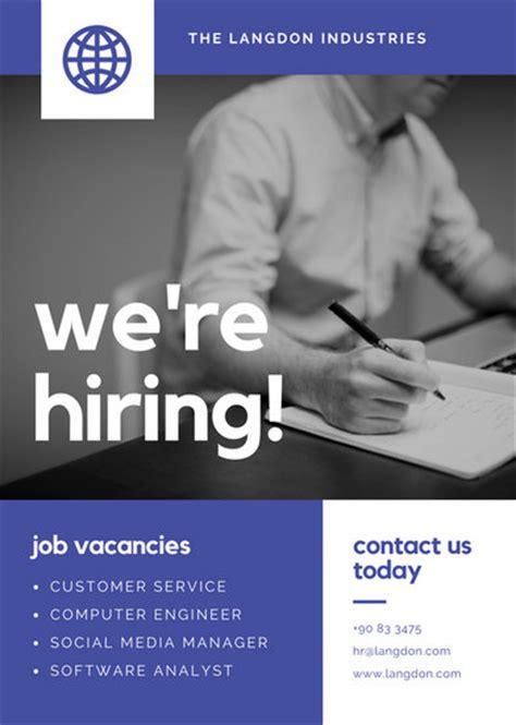 Canva Job Vacancy | job vacancy announcement templates canva