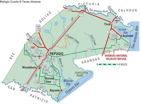 refugio texas map refugio county the handbook of texas texas state historical association tsha