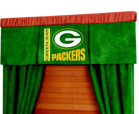 packers curtains green bay packers nfl football valance