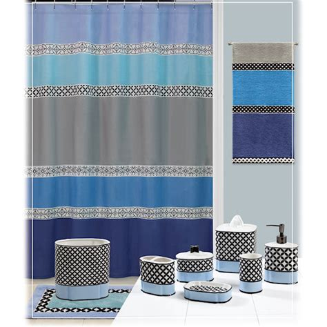 blue and grey bathroom accessories madrid blue gray shower curtain bath accessories by creative bath townhouse linens