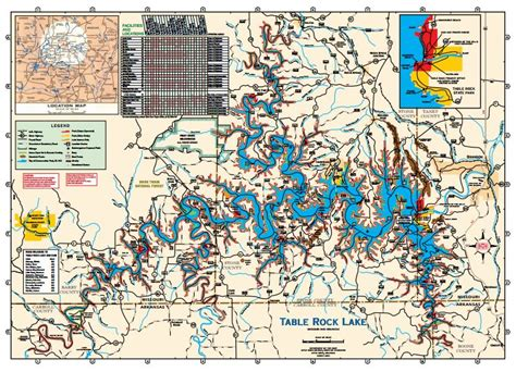table rock lake map 301 moved permanently