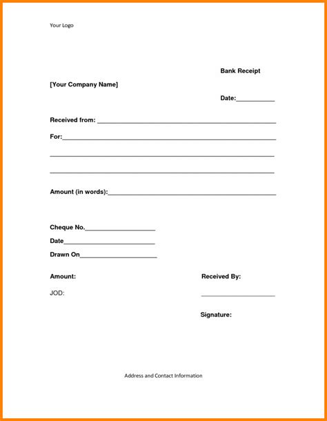 cheque receipt template free 11 cheque received receipt format cio resumed