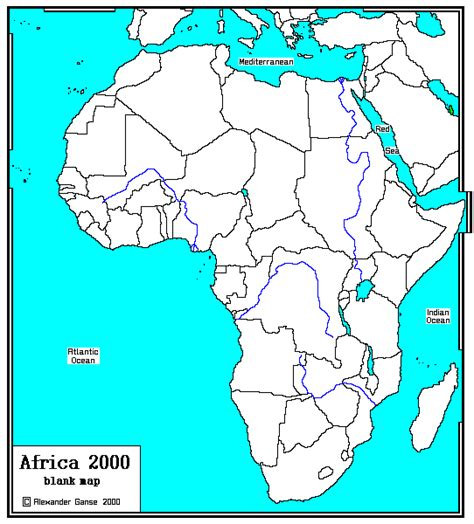 africa map rivers blank map of africa with rivers