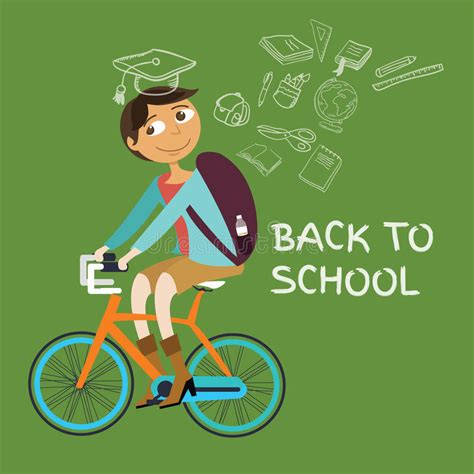 Goes Back To School by Student College Bicycle Go Back To School Class