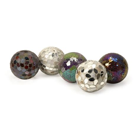 home decor balls abbot mosaic deco balls set of 5 free shipping today