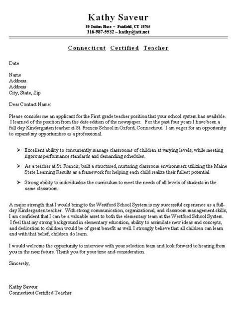 teacher cover letter 8 sample teacher cover letters sample