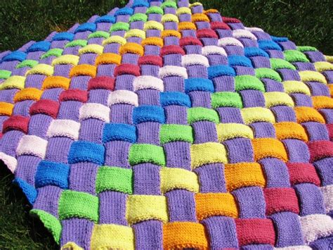 loom knitting blanket entrelac knitted blanket the whoot
