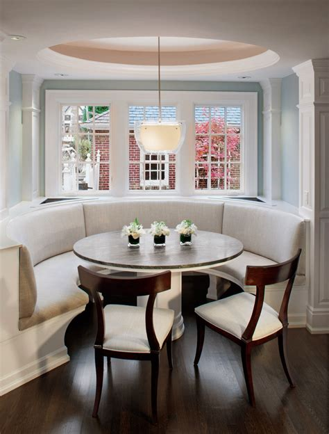 curved dining banquette traditional dining room curved banquette dining room transitional with crown