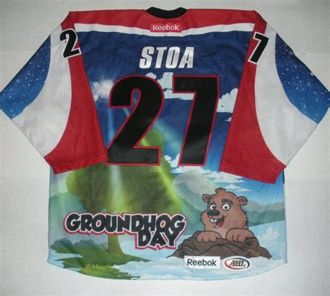 groundhog day auction stoa hershey bears groundhog day autographed