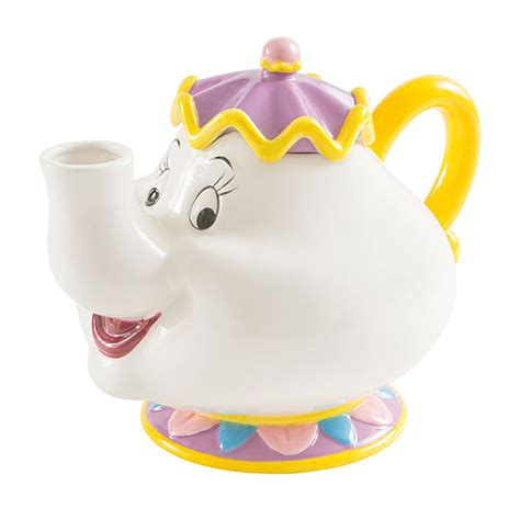 Teapot And The and the beast mrs potts sculpted ceramic teapot