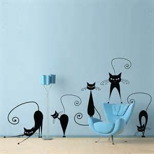 Cat Wall Sticker Cat Wall Decal Set Of 5 Stickers
