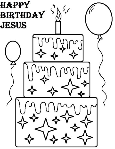 Happy Birthday Jesus Coloring Page free printable happy birthday coloring pages for