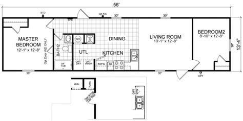 2 bedroom 14 x 70 mobile homes floor plans floor plans bowie 14 x 56 746 sqft mobile home factory expo home centers
