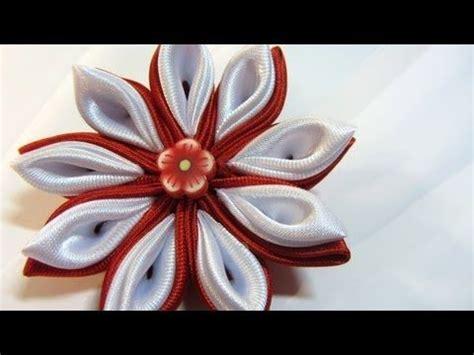 fiori di stoffa kanzashi come fare fiori kanzashi fiori di stoffa tutorial