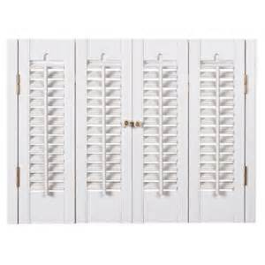 Home Depot Interior Window Shutters by Homebasics Traditional Faux Wood White Interior Shutter