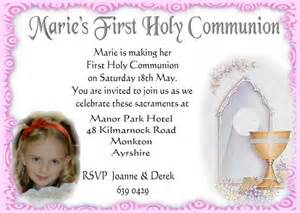 pink personalised first holy communion photo invitations