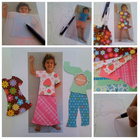 How To Make A Doll Using Paper - personalised paper dolls family crafts