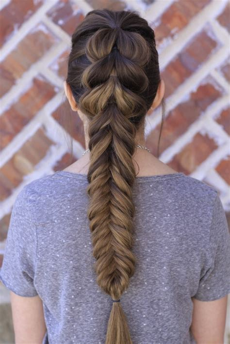 Fish Braids Hairstyles by Pull Through Fishtail Braid Combo Hairstyles