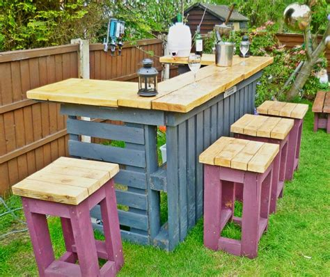 outdoor bar top finish necessary outdoor bar made from old pallets and scrap