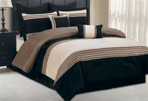 taupe comforter 8pcs king manolo taupe and black comforter set ebay