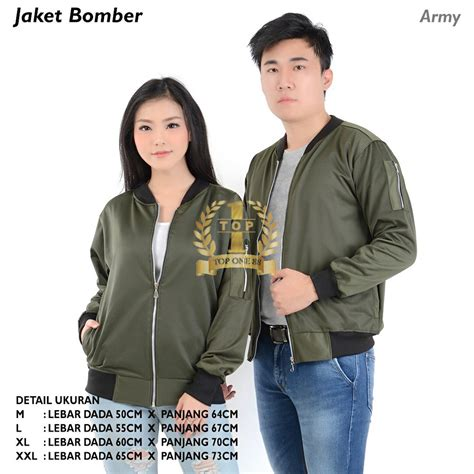 topone88 bomber jaket topone88 bomber jaket army shopee indonesia