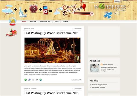 entertainment templates for blogger christmas v2 2 blogger template 2014 free download