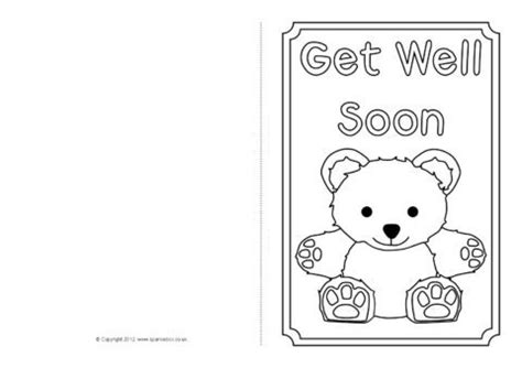 greeting cards word templates get well get well soon card colouring templates sb8890 sparklebox