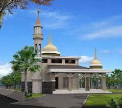 contoh desain masjid minimalis    lantai