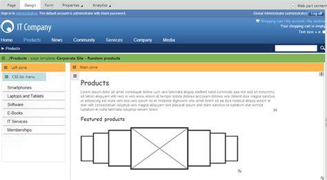kentico layout web part managing wireframes kentico 8 documentation kentico