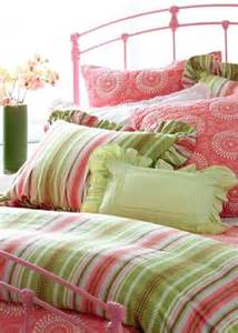nursery notations pink and green childrens bedding