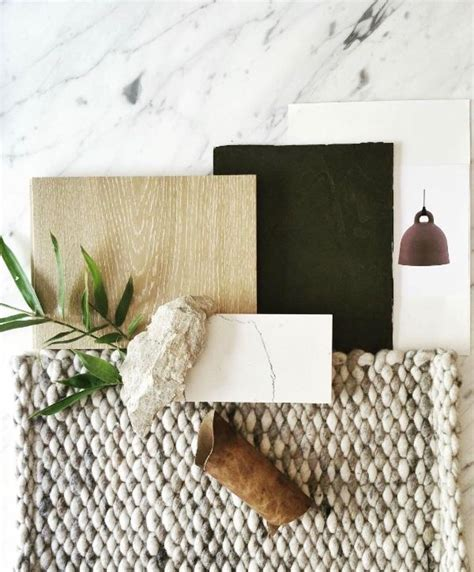 moodboard collection earth tones interior decor trend