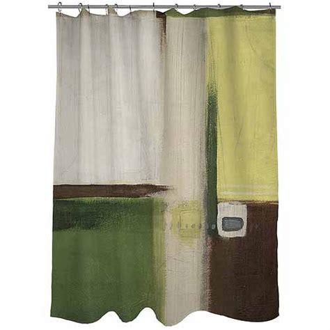 green curtains walmart thumbprintz green field 1 shower curtain walmart com