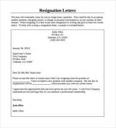 Library Board Resignation Letter Resignation Letter 8 Sles Exles Format