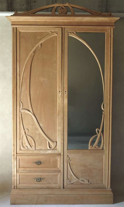 art nouveau armoire art nouveau armoire france early 20th century at 1stdibs