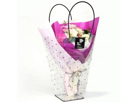 Bouquet Bag pvc bouquet bag l bouquet bag 10 pcs pkt 26x13x35cm