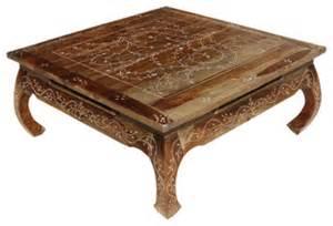 orientalische tische bone inlay wood opium square coffee table asian coffee