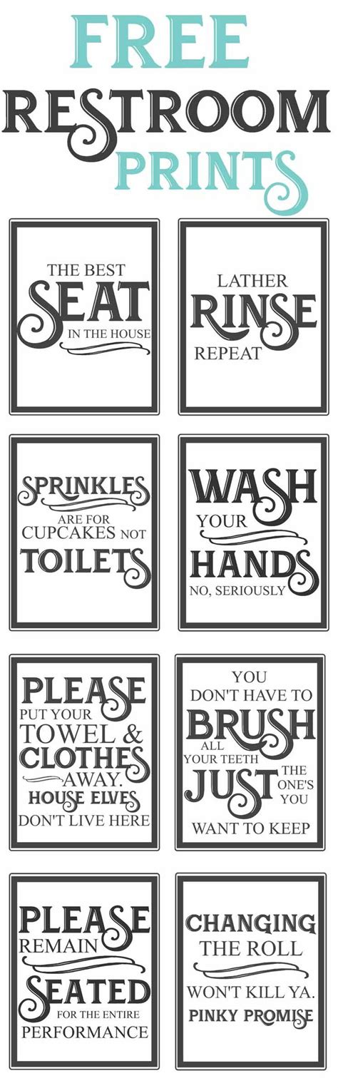 bathroom signs printable free 25 best bathroom quotes on pinterest bathroom wall