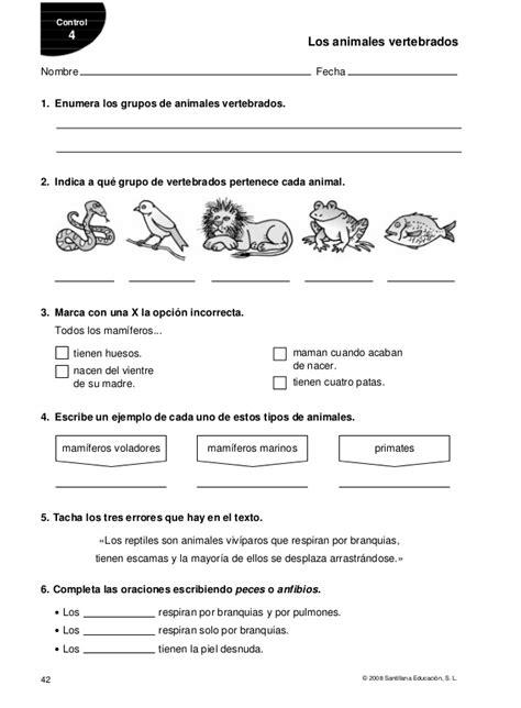 Did 224 Ctica De Ciencias Naturales Los Animales Y Su Peligro | evaluacion de animales ficha animales herb 237 voros