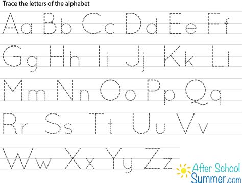 printable dashed letters free printable alphabet tracing letters tracing clip