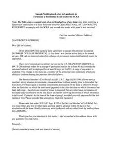 Break Letter Reply sample notification letter to landlords to terminate a residential