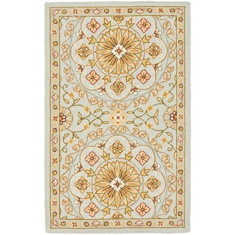 4 x 9 rug safavieh chelsea teal green 2 ft 9 in x 4 ft 9 in area rug hk378a 3 the home depot