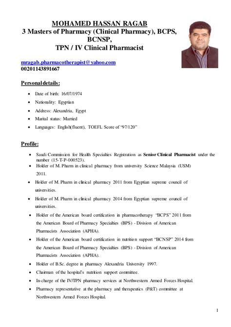 Specialty Pharmacist Resume by Pharmacist Nutrition Certification Nutrition Ftempo
