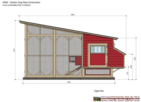 Chicken Hutch Design Chcken Coop M600 Chicken Coop Plans Construction Chicken