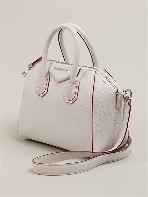 Givenchy Antigona Mini 3154 3 lyst givenchy antigona mini tote in white